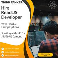 Hire ReactJS Developers Dubai, Qatar, Kuwait, Saudi Arabia - ThinkTanker