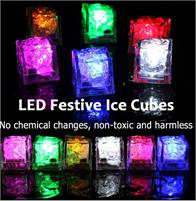 LED Ice Cubes ~ A charm light in your glass!