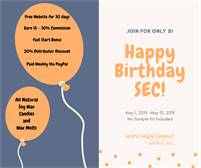 SEC 1 Year Birthday $1 Signup in May