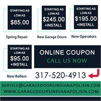 Garage Door Services Indianapolis IN