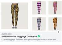 Custom Women's Leggings With Spiritual Images On Them.