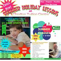 SUMMER HOLIDAY LESSONS