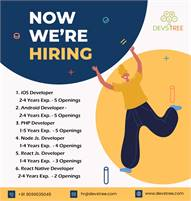 iOS, Android, PHP, Node.js, ReactJS & React native Developers   Ahmedabad, India