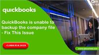 Help to Fix Quickbooks Unable to Backup the Company File