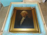 George Washington by Emil Hermann Original Artist Painting New Price!!  Rock Bottom Special Price!