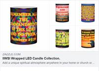 Customizable Wrapped LED Candle Collection.