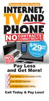 Save Big $$$ on Internet, TV & Home Phone Service!