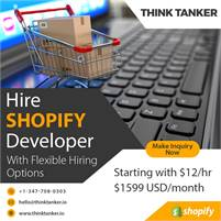 Hire Dedicated Shopify Plus Developers USA - ThinkTanker