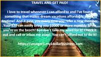 GET PAID WHILE YOU TRAVEL!