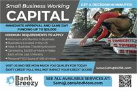 BUSINESS WORKING CAPITAL   GET UP TO $25K   FUNDED SAME DAY OR NEXT DAY