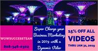 Super Charge your Business with Marketing Videos on SALE NOW through January 31st!