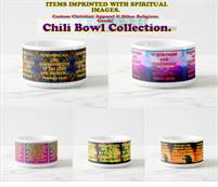 Custom Chili Bowls With Spiritual Images On Them!