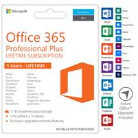 Microsoft Office 365 2019/2016 Pro Plus Lifetime Account 5 Devices Windows mac mobile 5 TB OneDrive