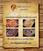 We specialize in carving 3D reliefs from a photo onto wood.