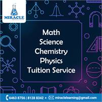 Math - Science - Chemistry - Physics - Tuition Service