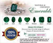 FACETED Emeralds and certified cut diamonds